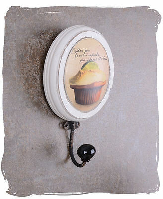 Vintage Wall Hook Cupcake Towel Hook Tea Towel Hook