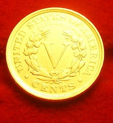 Monnaie    Usa  5 Cents Liberty 1906    Or/gold   Pl