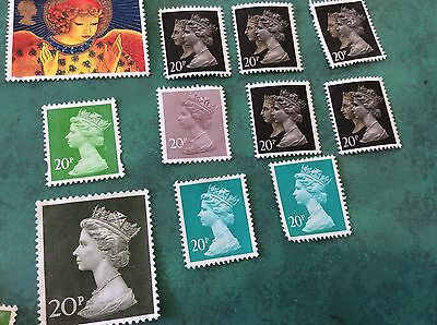 20p Unfranked British Stamps Collectable