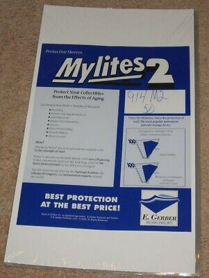 50 Mylites 2 Mil Mylar Legal Document or Graded Comic Book Bags sleeves CGC CBCS
