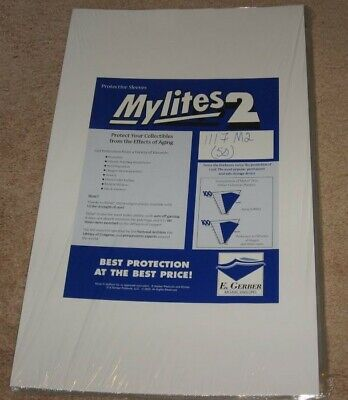 Pack of 50 Mylites 2 Mil Mylar 11x17 Art Print Poster Bags 11 x 17 sleeves