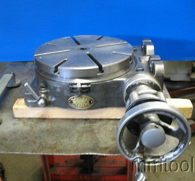 """Moore 10-5/8"""" Rotary Table Horizontal-Vertical W/lift Handle Milling"""