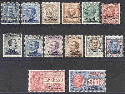 ITALY Offices in Africa #1-11, E1-2 Mint - 1901-11 Issues