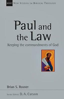 Paul and the Law by Brian S. Rosner Paperback Book (English)