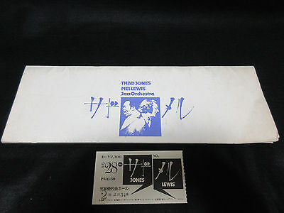 Thad Jones Mel Lewis 1974 Japan Tour Book with Ticket Pepper Adams Jimmy Knepper