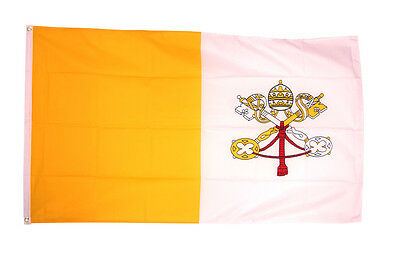 Vatican City Flag - 3 x 2 FT - Roman Catholic Religious Church Rome Pope Papal