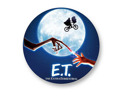 Pin Button Badge Ø38mm E.T l'extra-terrestre The Best 80's Movies Film Cinema