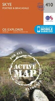 OS Explorer Map Active (410) Skye - Portree and Bracadale (OS Exp...