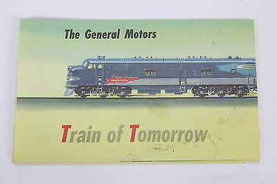 General Motors Train Of Tomorrow Fold-Out Pamphlet Lithographed 1947