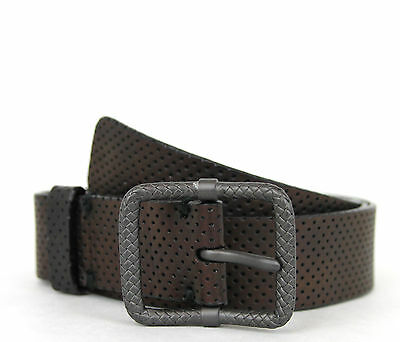 NEW Authentic BOTTEGA VENETA Leather Perforated Belt Bronze Unisex 288184 00be55438be1e