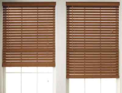 """NEW JCPenney Home 2"""" Printed Faux-Wood Horizontal Blinds Window Treatment NIB"""