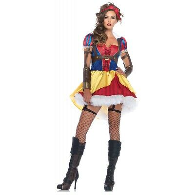 Snow White Costume Adult Fairytale Halloween Fancy Dress