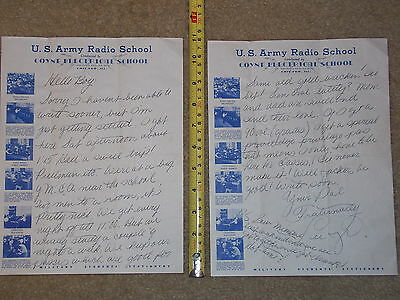 Us Army Radio School Coyn Electrical Chicago Ill Letterhead Person Letter Paper