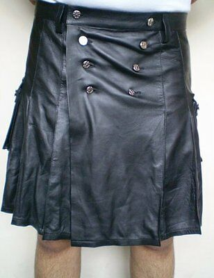 Men's Soft Napa Leather Kilt New All Sizes