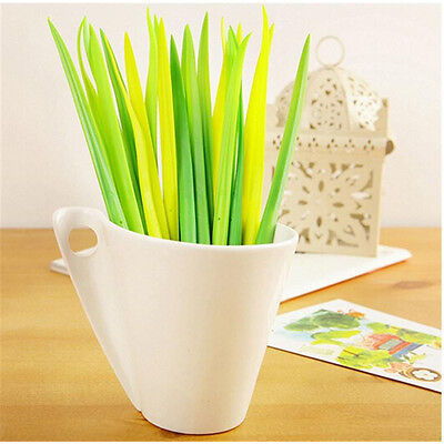 12pcs Grass Leaf Grass-Blade Pen Stationery Sign Pen Great  Decoration Cute