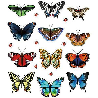 2015 New 12pcs  Wall Sticker Butterfly Home Decor Room Decoration Stickers Top