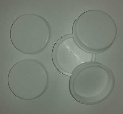 "Plastic spare End Caps Postal Tube Spare White 1"" inch 25.4 mm"