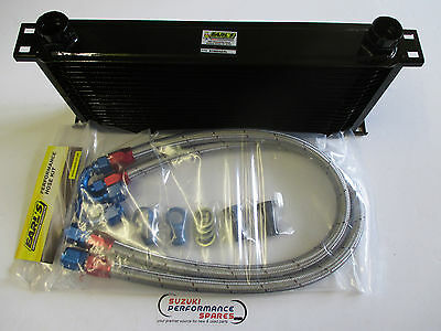 Suzuki GSXR750 F G H 85 to 87 Genuine Earl's Oil Cooler Kit and Earl's Lines