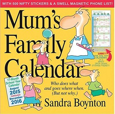 Mum's Family Planner Official Wall Calendar 2016 Square New & Sealed