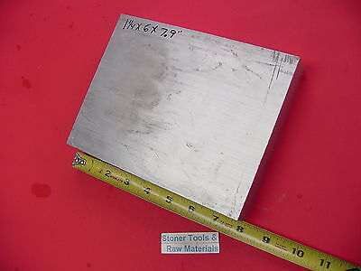 "1-1/4"" X 6"" ALUMINUM 6061 FLAT BAR 7.9"" long Solid T6511 Plate Mill Stock"