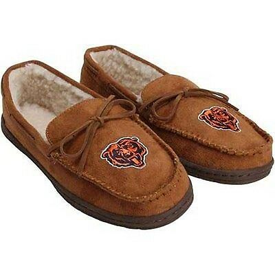 Forever Collectibles NFL NEW Chicago Bears Mens Moccasins Slippers