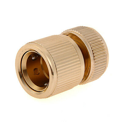 Brass Auto Water Guide Quick Fit Female Hose Pipe Connector Hoselock Clips 1/2 ""
