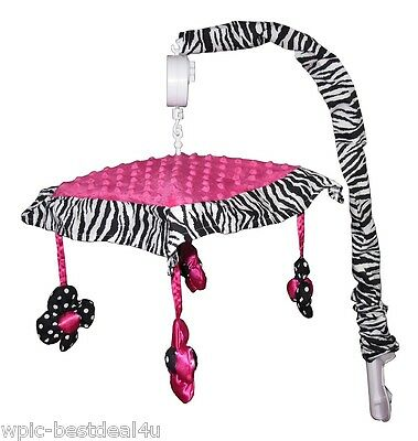 Musical Mobile - Hot Pink Zebra by Sisi