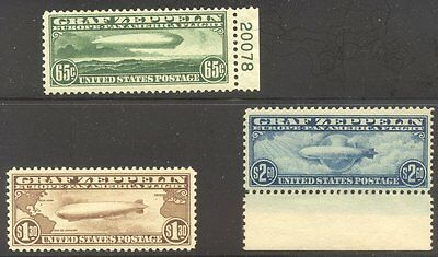 U.S. #C13-15 CHOICE Mint NH Set - 1930 Graf Zeppelin