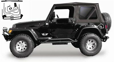 1997-2006 Jeep Wrangler Complete Soft Top Kit with Hardware and Tinted Windows