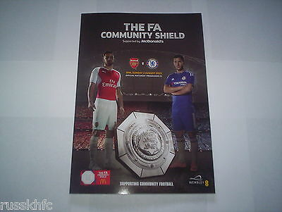 2015 Community Shield Arsenal V Chelsea Official Programme