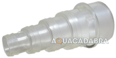 "STEPPED CLEAR FLEXI HOSE TAIL 1.5"" 38mm GLUE FIT SOLVENT WELD KOI FISH POND"