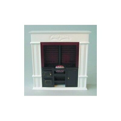 """Doll House 12th Scale : 6"""" Range with White Fireplace"""