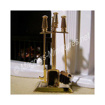Doll House 12th Scale : Brass Fireplace Companion Set