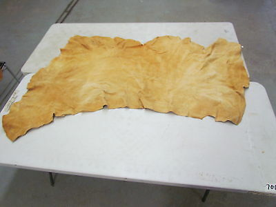 """67"""" X 41"""" Native American Home Tanned Moose Hide, Thin, Light Color"""