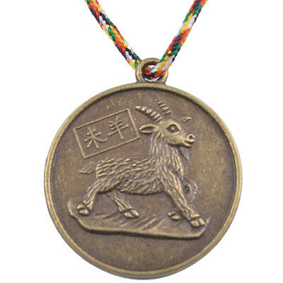 SHEEP CHINESE ZODIAC Charm Pendant Coin Lucky Feng Shui+Five Element Chain