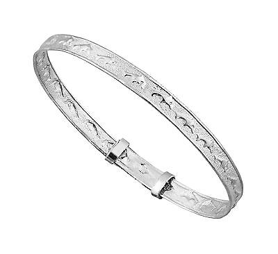 925 Sterling Silver Baby's Christening Dolphin ,Bracelet Gift Boxed