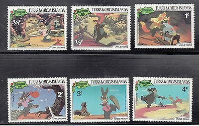 (74609) Turks & Caicos MNH Disney Uncle Remus Stamps x6t U/M