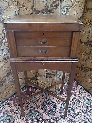 Charming Antique Campaign Chest on Stand, with Brass Details