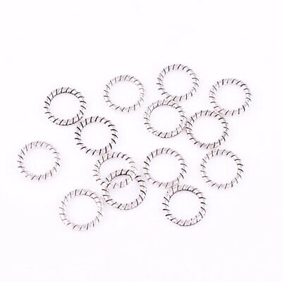 Metal Tibetan silver Round Ring Charm Spacer Beads Jewelry Findings 4mm/6mm/8mm