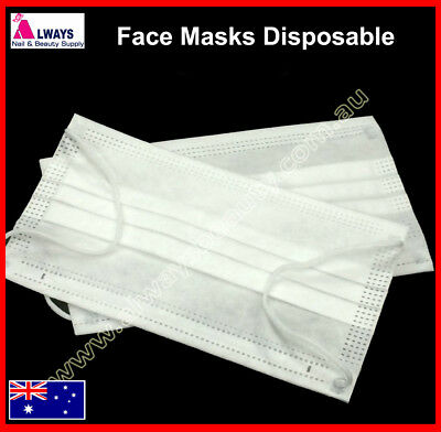20Pc/40Pc 3Ply Disposable Nail Dental Medical Dust Mouth Face Mask Respirator