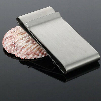 HOT Stainless Steel Silver Slim Money Clip Purse Wallet Credit Card Holder