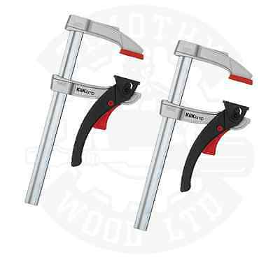 2 x Bessey Kliklamp Heavy Duty Ultra Strong Ratchet Quick Release Lever Clamps