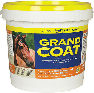 Grand Coat Horse Pony Foal Skin Hooves Coat Hair Supplement 5 lbs 40 day supply
