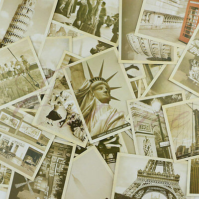 32Pcs Travel Postcard Vintage Bulding Landscape Photo Picture Poster Post Card
