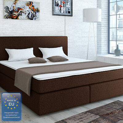 boxspringbett 180 x 200 cm braun woody 118 00007 eur 579 00 picclick de. Black Bedroom Furniture Sets. Home Design Ideas