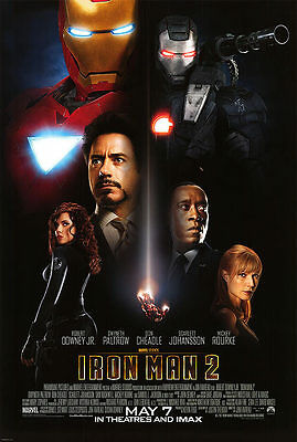 "Iron Man 2 Final Two Sided 27""x40' inches Orig Movie Poster Marvel"