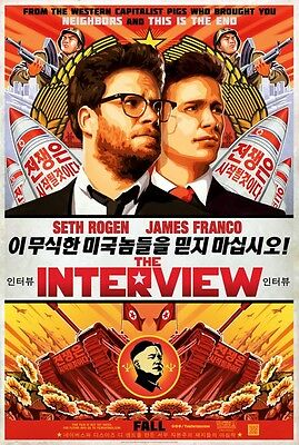 "Interview Recalled Two Sided 27""x40' inches Original Movie Poster  SETH ROGEN"