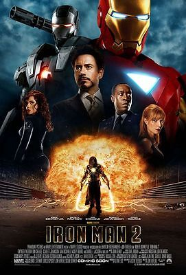 "Iron Man 2 Coming Soon Intl  Two Sided 27""x40' inches Orig Movie Poster Marvel"