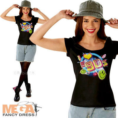 I Love the 90s T-shirt Ladies Fancy Dress 1990s Nineties Womens Adult Costume