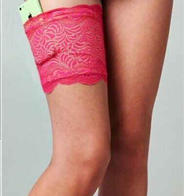 MY SASSY STASH Secure GARTER Hold Essentials PINK LACE Hold Up NIGHT OUT